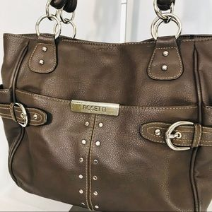Rosetti Brown Vegan Leather Shoulder Bag